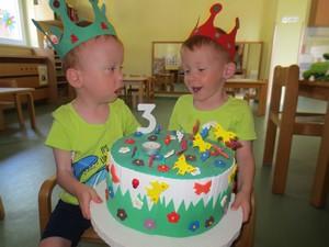 Praznovanje 3. rojstnega dne Klemna in Patrika