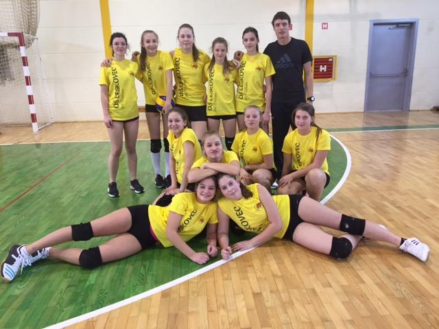 Področno prvenstvo v odbojki za starejše deklice na OŠ Leskovec